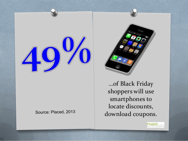 …of Black Friday shoppers will use smartphones to locate discounts, download coupons.