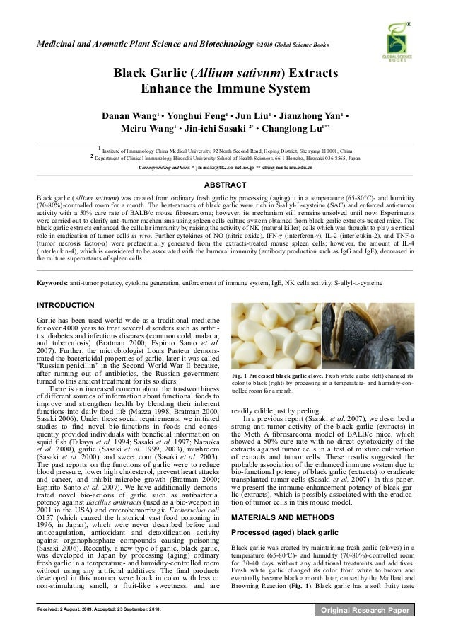immune system research paper