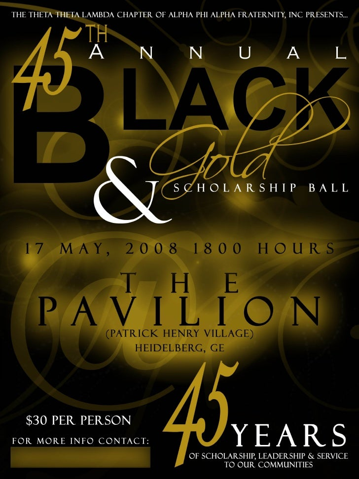 black gold banquet flyer