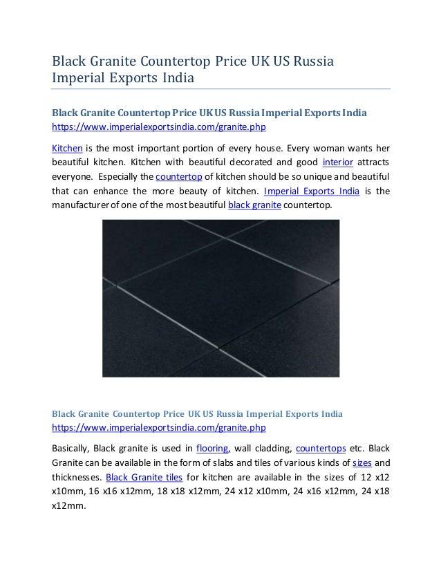 Black Granite Countertop Price UK US Russia Imperial Exports India Black Granite CountertopPrice UK US RussiaImperial Expo...