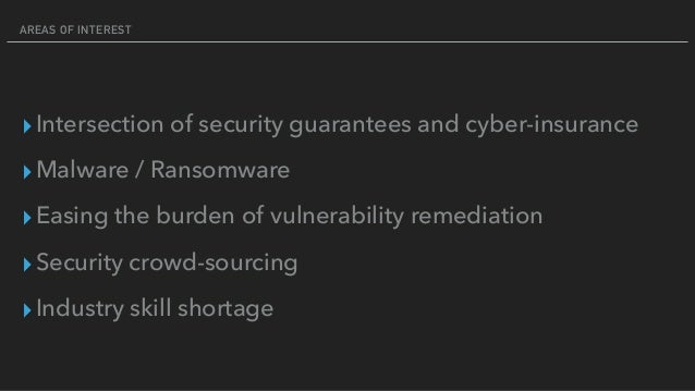 An Insiders Guide to Cyber-Insurance and Security Guarantees Slide 3
