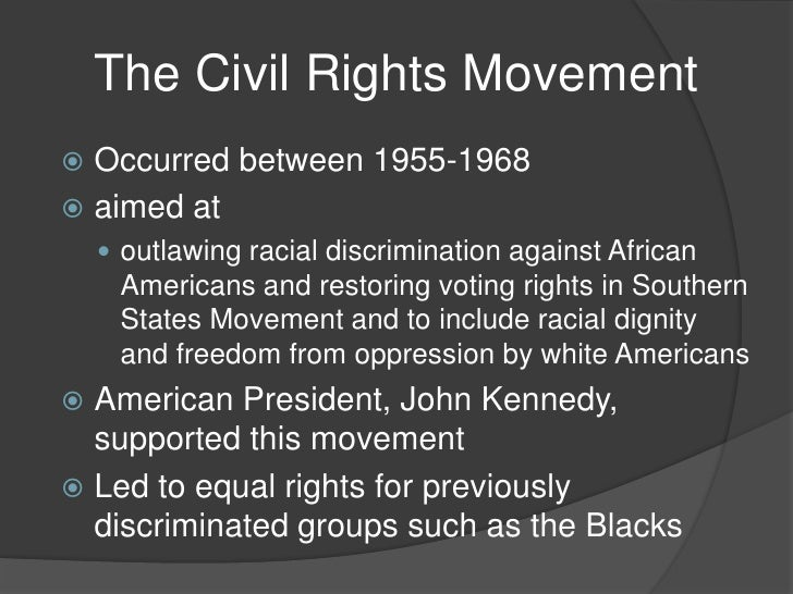 the american civil rights movement between 1955 to 1968 On lectures in history, goucher college professor jean baker teaches a class on the civil rights movement from 1955 to 1968.