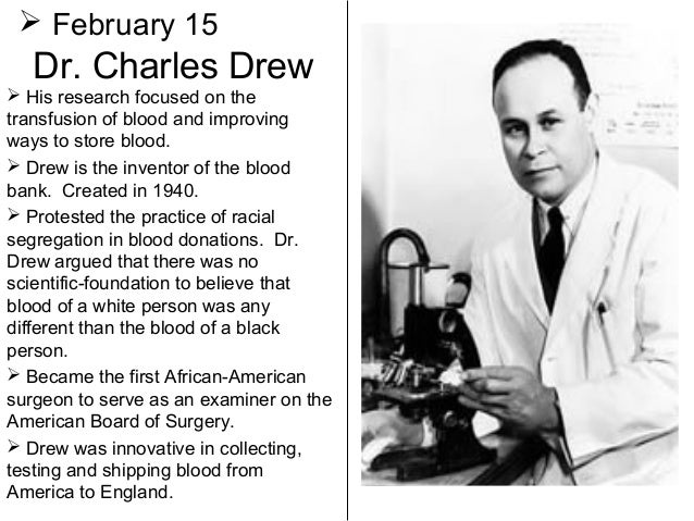 charles drew thesis Dr charles drew, father of the blood bank drew published his research in his doctoral thesis the american red cross' charles drew institute in.