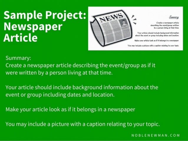 Writing a newspaper article project for kids