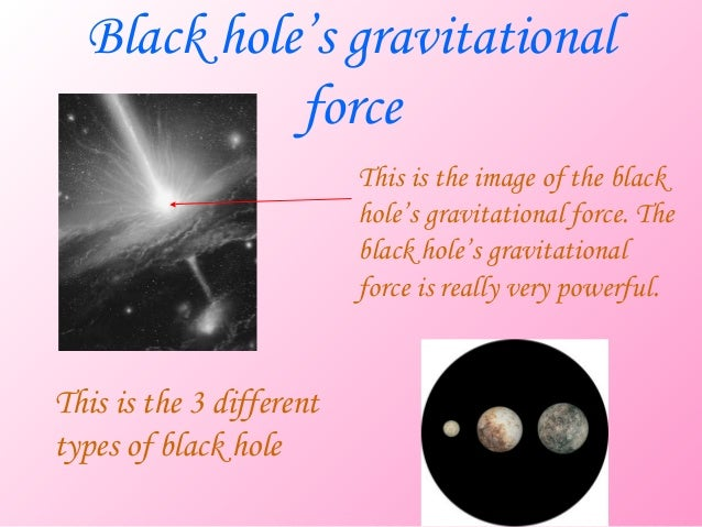 Black hole's gravitational            force                          This is the image of the black                       ...