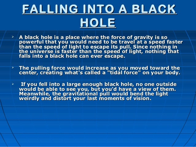 what if you fell into a black hole - photo #32