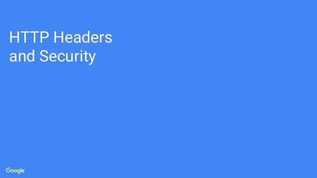 HTTP Headers and Security
