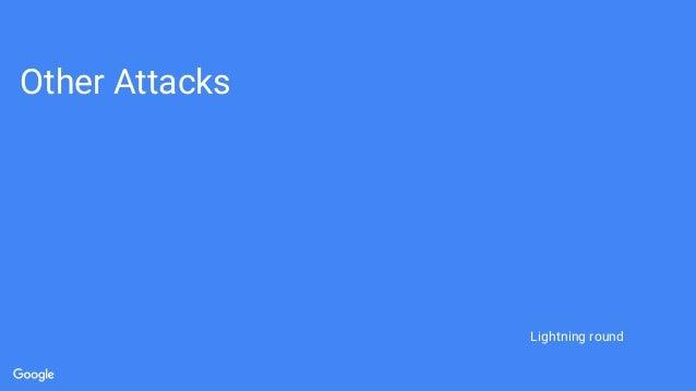 Other Attacks Lightning round