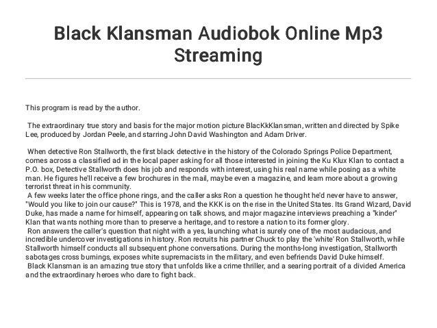 Black Klansman Stream