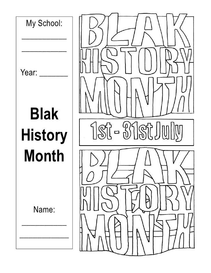 My School: ___________ ___________  Year: _______     Blak History Month      Name: __________ ___________