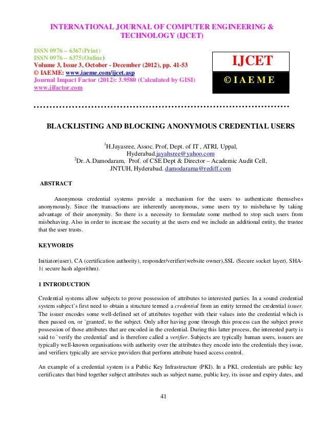 International Journal of Computer Engineering and Technology (IJCET), ISSN 0976 – 6367(Print),      INTERNATIONAL JOURNAL ...