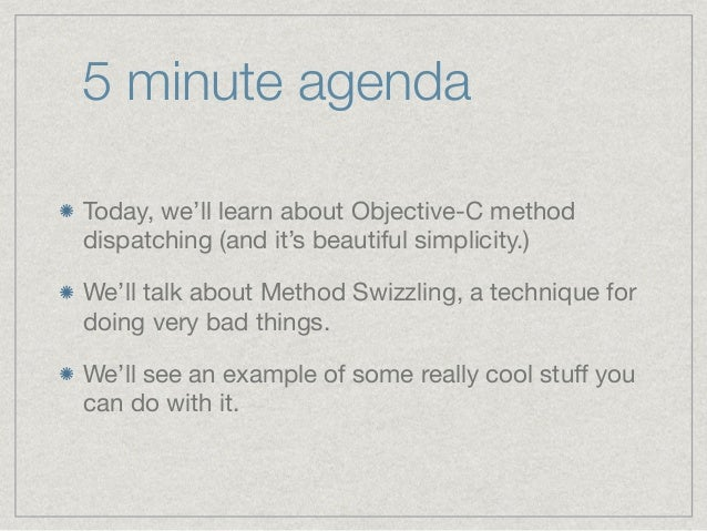 Black magic and swizzling in Objective-C Slide 3