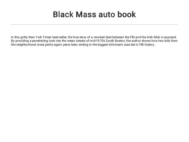 Black Mass auto book