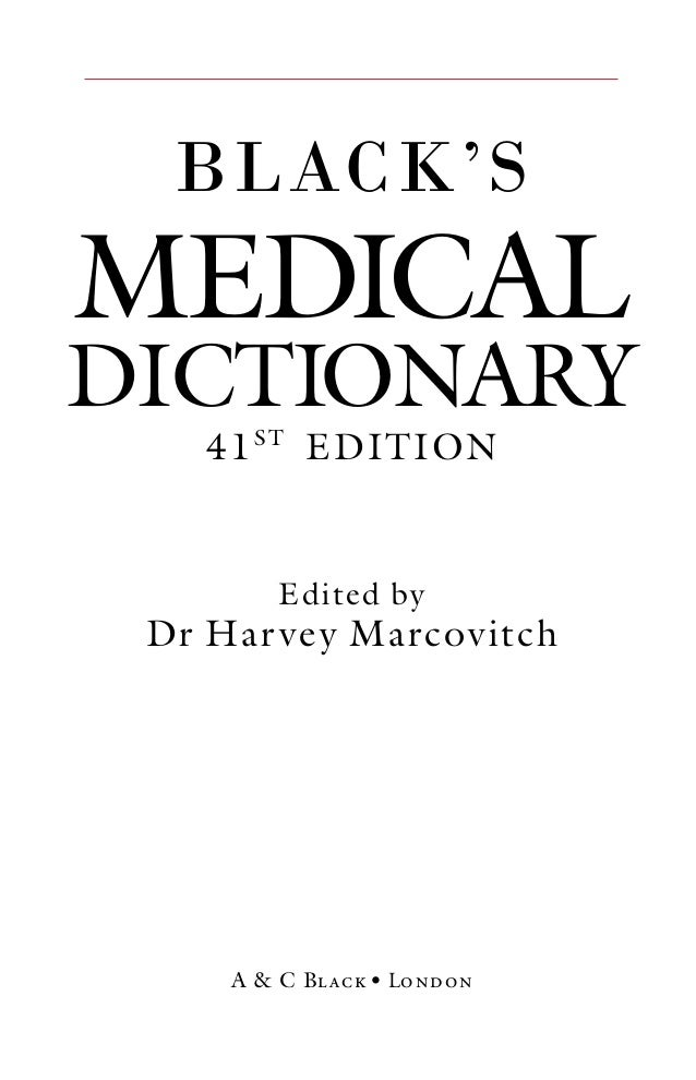 Black medical dictionary