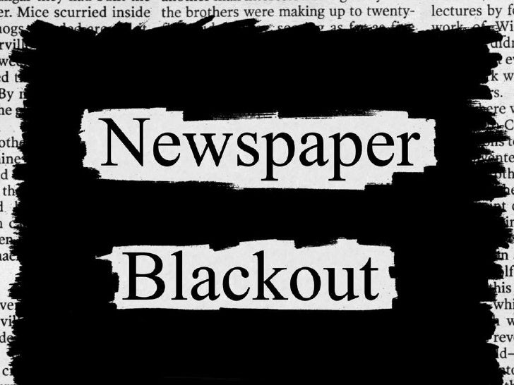 Newspaper Blackout Slideshow