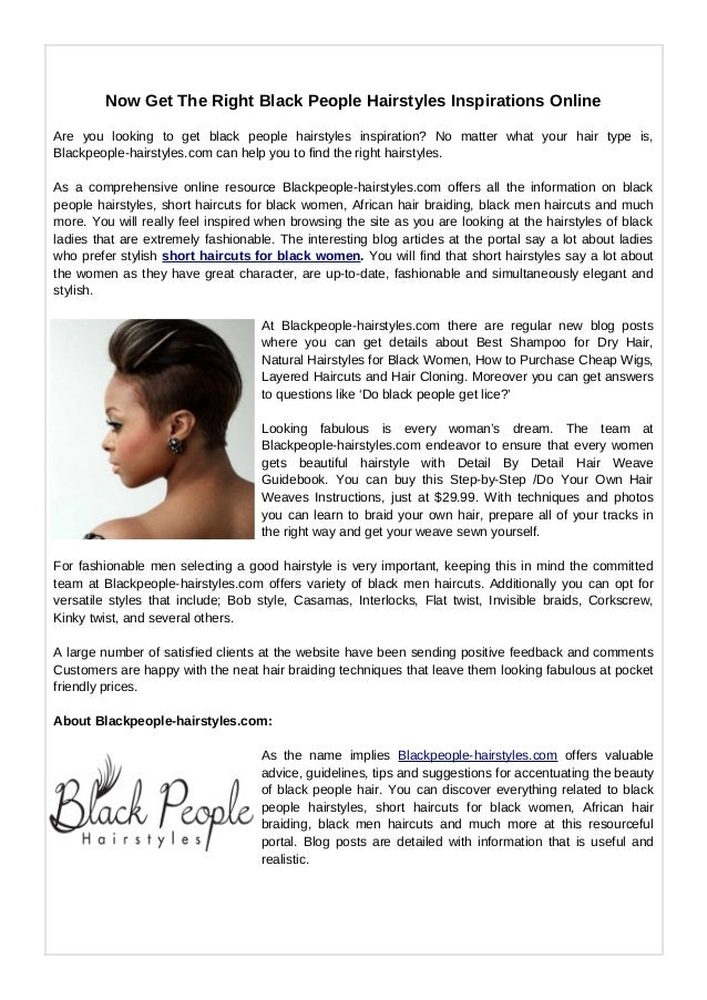 Black people hairstyles