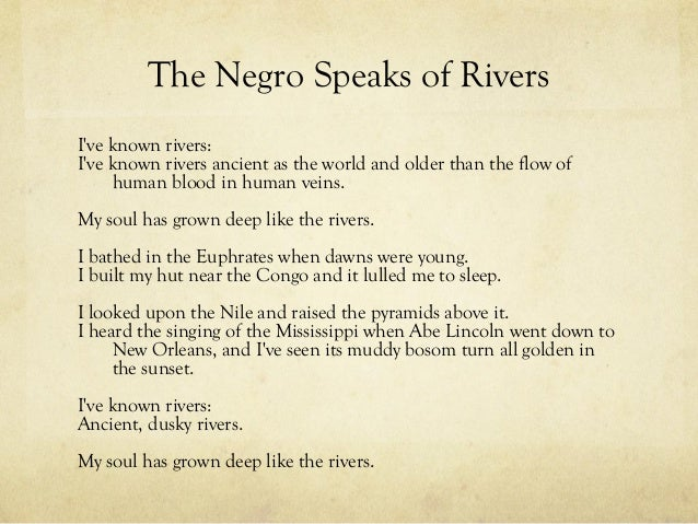 Introduction & Overview of The Negro Speaks of Rivers