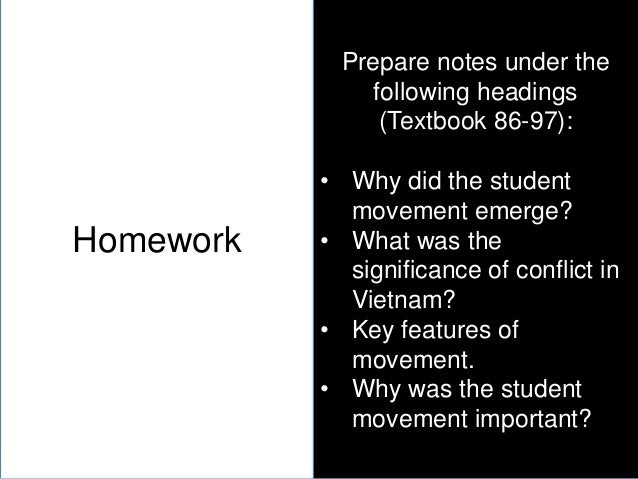 why did the student movement emerge There already was a small peace movement prior to the escalation of us   students for a democratic society (sds) emerged in 1960,.