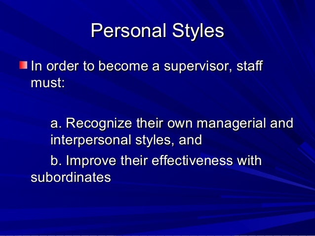 how to become a supervisor