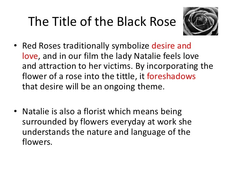 What does a black rose signify