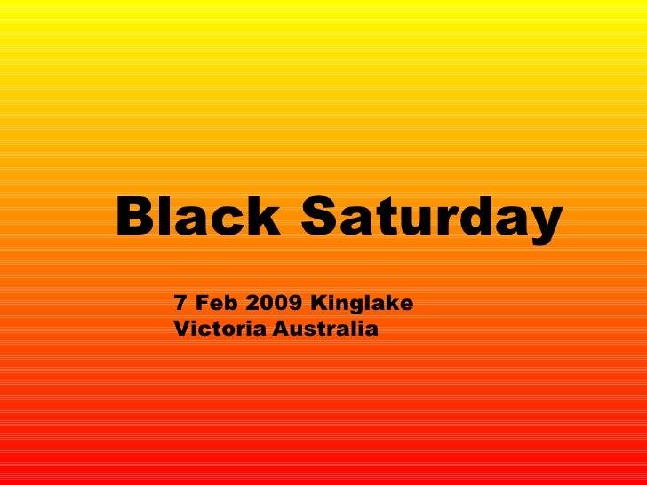 Black Saturday 7 Feb 2009 Kinglake Victoria   Australia