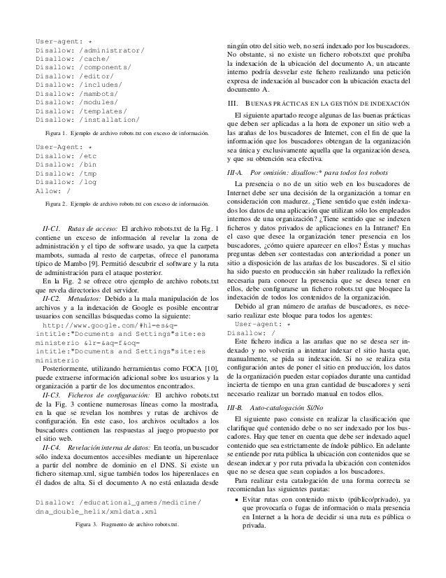 Modelado de amenazas en el contexto de la indexación de páginas y propuesta de inclusión en el ENS Slide 3