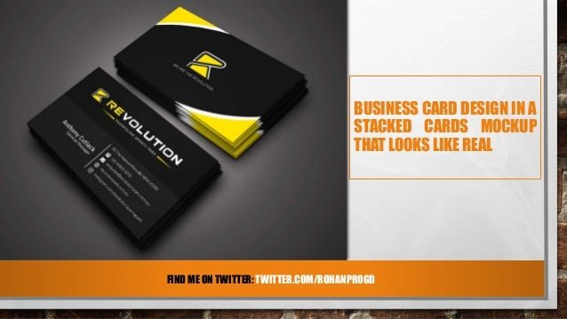 Black sleek business card design for revolution comrohanprogd 5 front card colourmoves