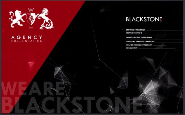BLACKSTONE Digital Agency Presentation