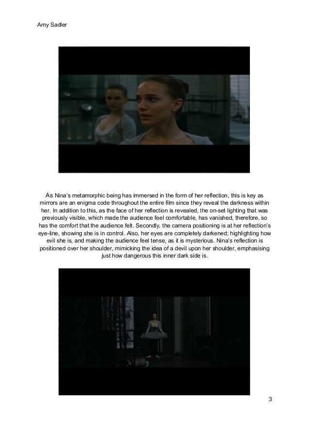 the black swan essay Film essay black swan – the sacrifice of a prima ballerina: psychosexual (self-) injuries as the legacy of archaic experiences of violence.