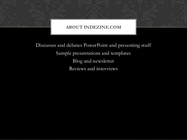 black tie theme in powerpoint