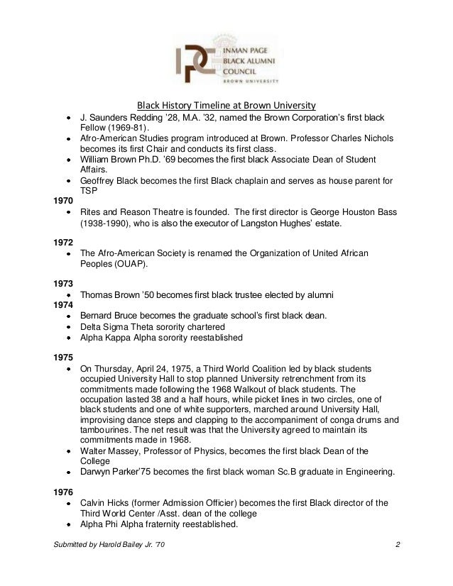 Black history timeline at brown university 12 23 13 submision spiritdancerdesigns Choice Image