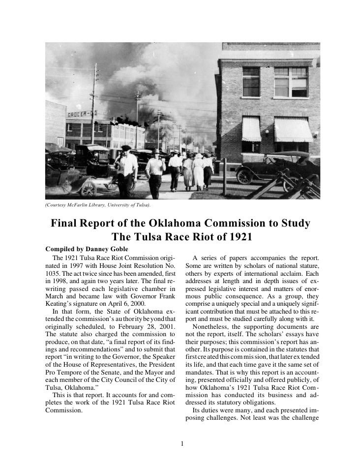 Tulsa Race Riot of 1921 (Paper)