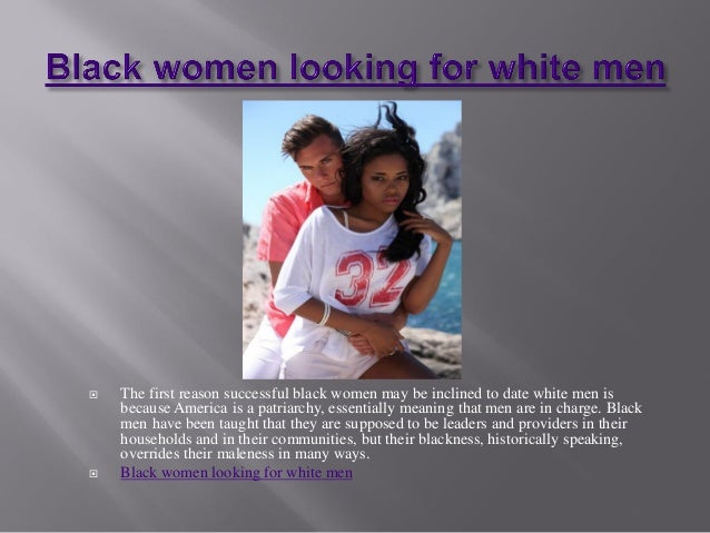 White women seeking black men in canaada