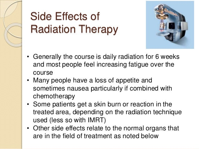 Side Effects Of Cancer Radiation Treatments