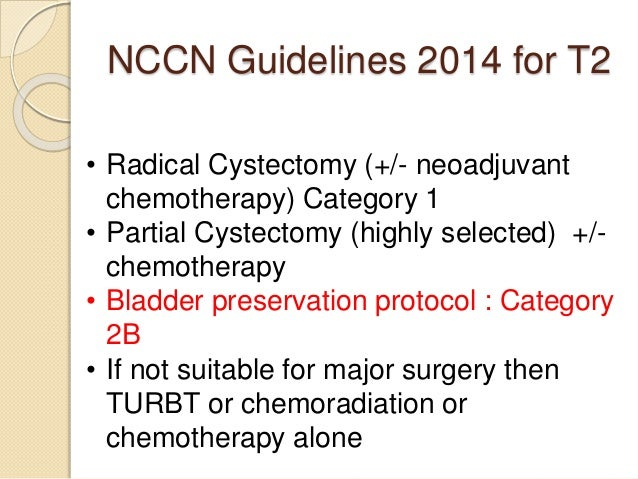 Chemotherapy protcols for advanced bladder cancer