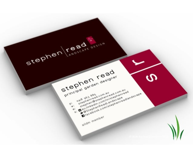 blade business consultancy 2012 - Garden Design Business Cards
