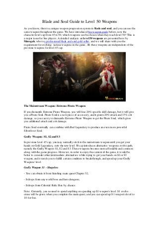 Blade and soul guide to level 50 weapons