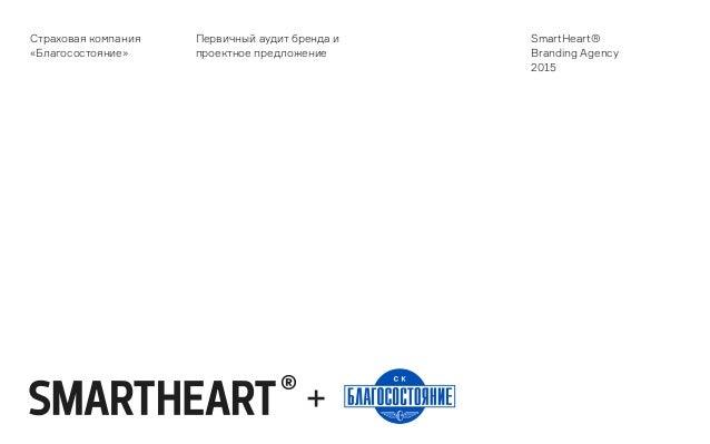 Страховая компания «Благосостояние» Первичный аудит бренда и проектное предложение SmartHeart® Branding Agency 2015