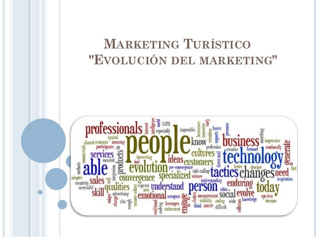 "MARKETING TURÍSTICO ""EVOLUCIÓN DEL MARKETING"""