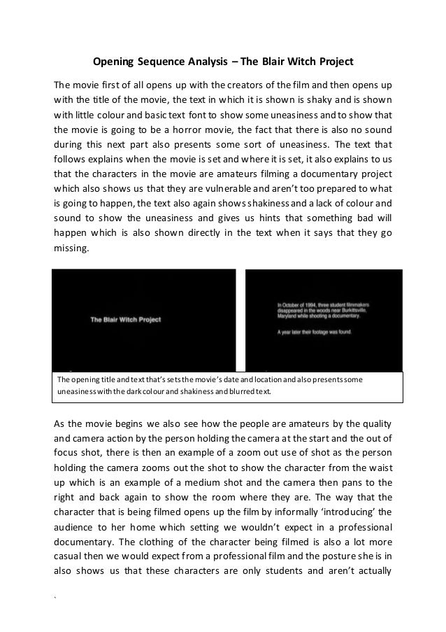 a summary review of the mock documentary of the blair witch project Janet maslin reviews the blair witch project, movie written, directed and edited by daniel myrick and eduardo sanchez photo (m.