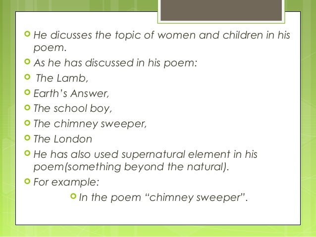 William blake s chimney sweeper essay example