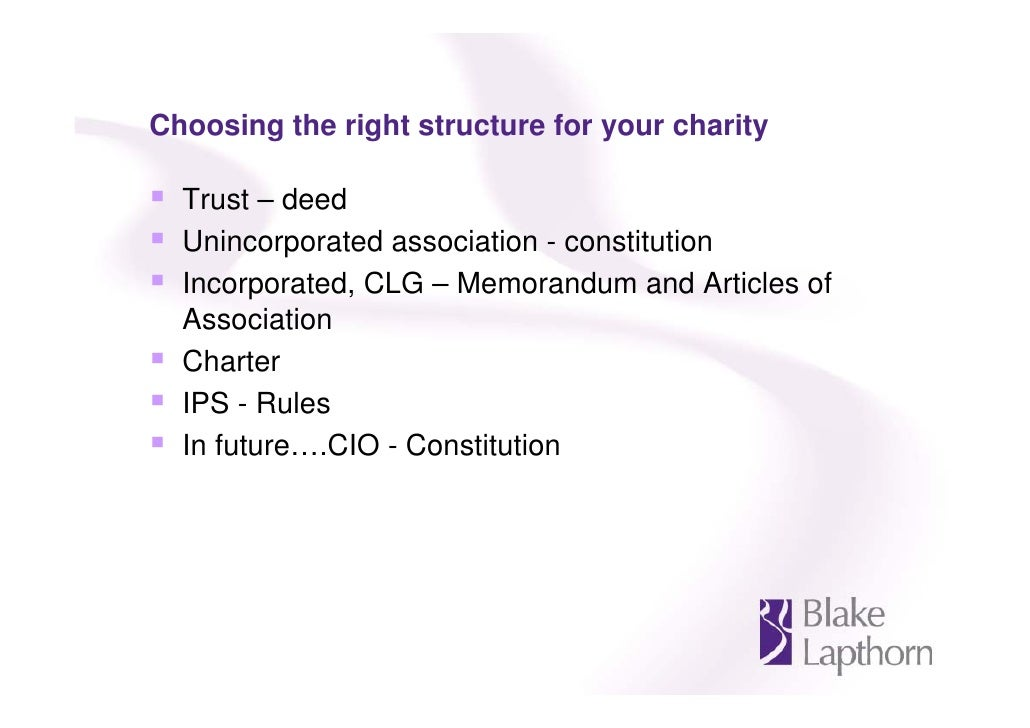Can A Charitable Trust Own Property