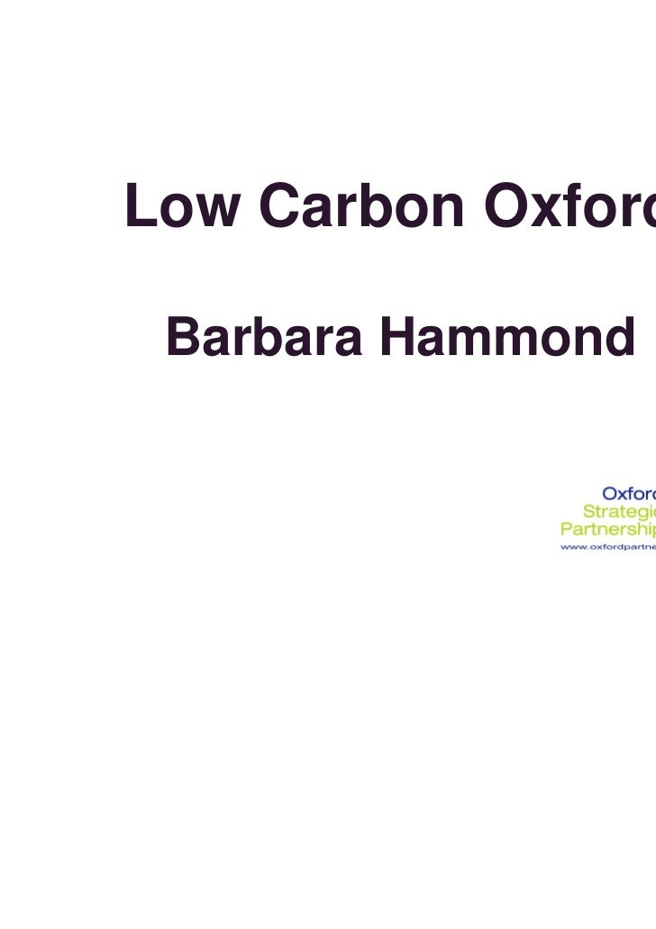 Low Carbon Oxford Barbara Hammond