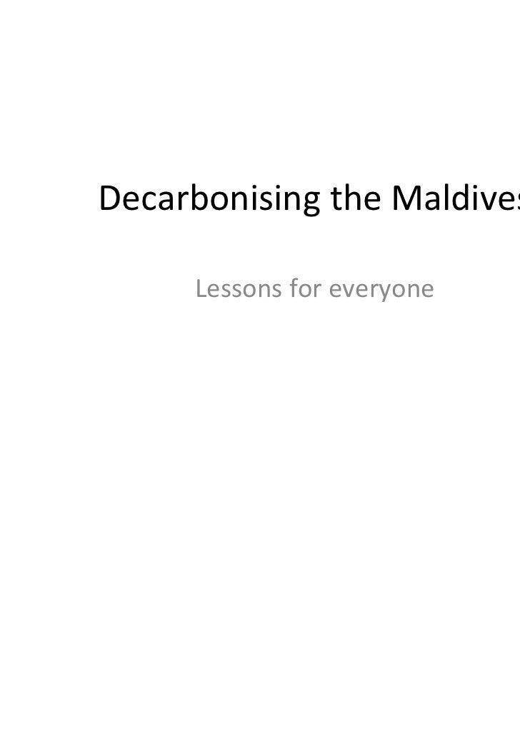 DecarbonisingtheMaldives     Lessonsforeveryone