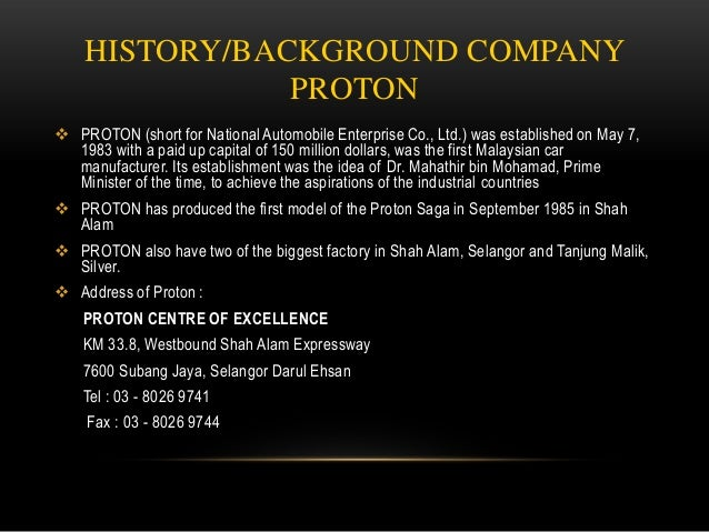 Enterprise Car Share Number >> PROTON COMPANY