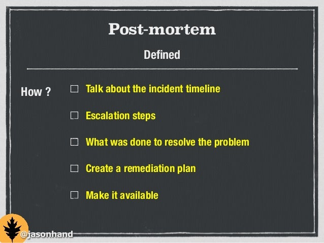 It S Not Your Fault Blameless Post Mortems