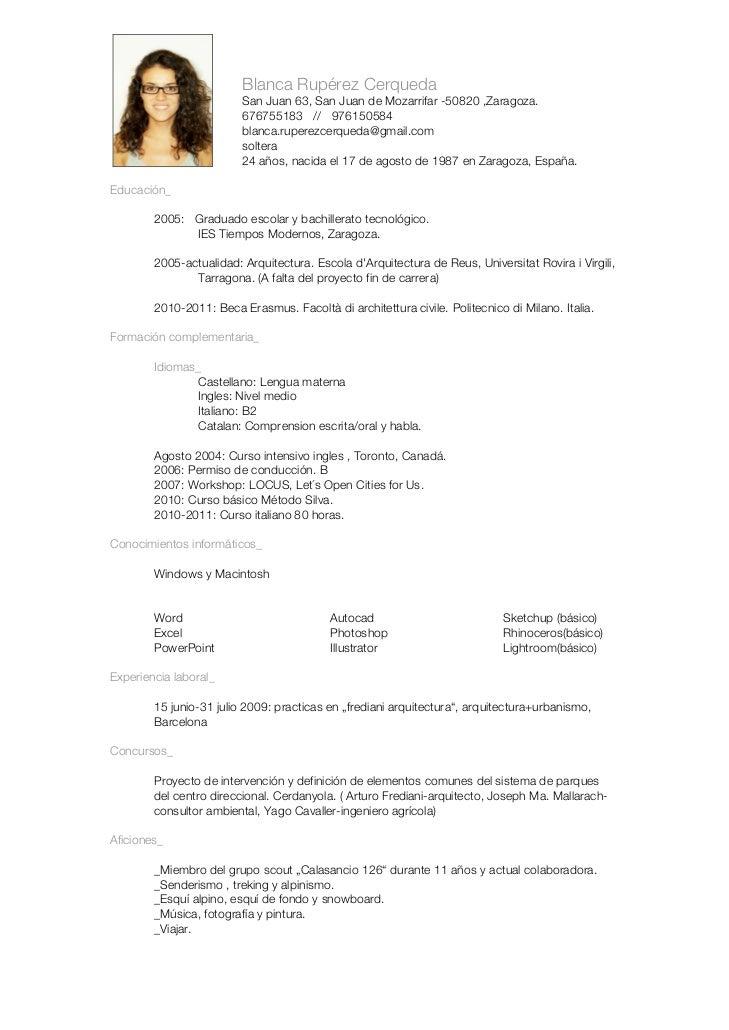 Blanca Rupérez Cerqueda                         San Juan 63, San Juan de Mozarrifar -50820 ,Zaragoza.                     ...