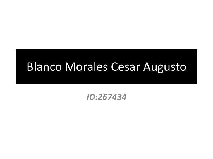 Blanco Morales Cesar Augusto          ID:267434