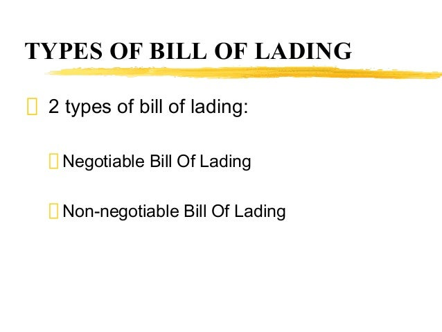 fillable bill of lading