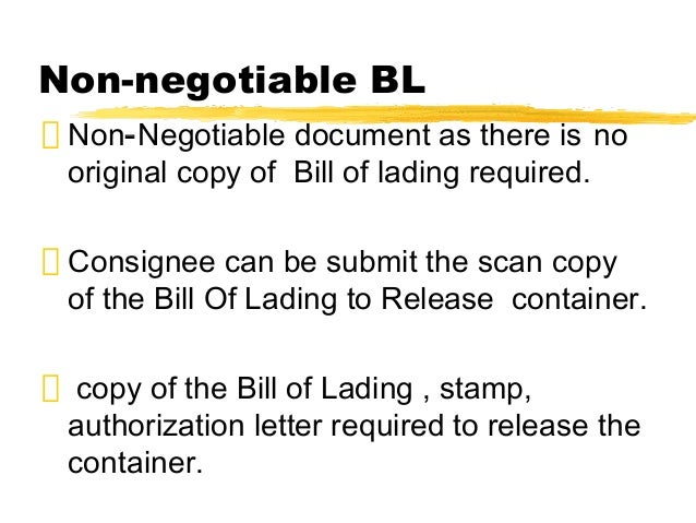 bill of laden